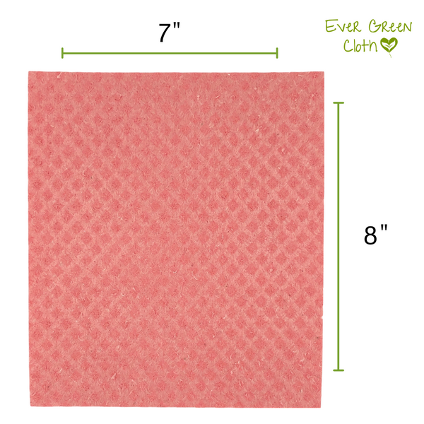 Swedish Dishcloth - Pink Ever Green Sponge Cloth