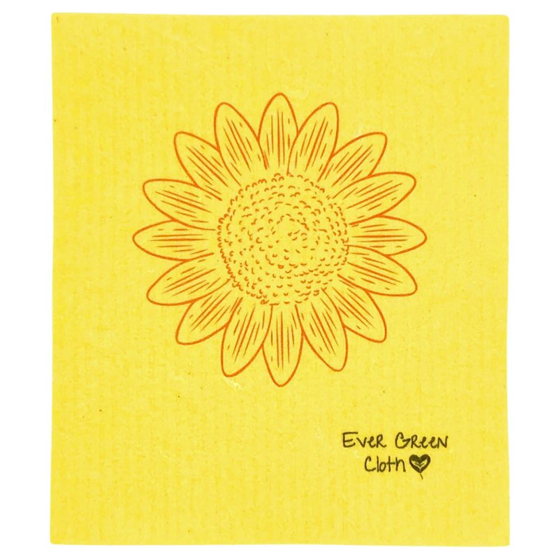 Swedish Dishcloth -  Sunflower Ever Green Sponge Cloth