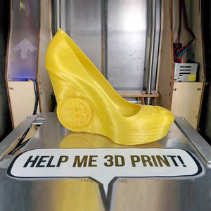 3D Printed Cryptocurrency Bitcoin High Heel