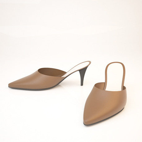 Arun Low Open Heel | 3D Shoe Model
