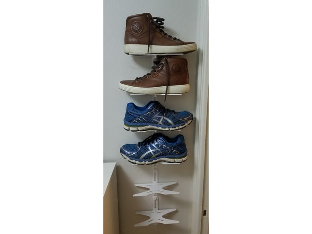 Shoe rack (shelf) and organizer for walls by Ametz