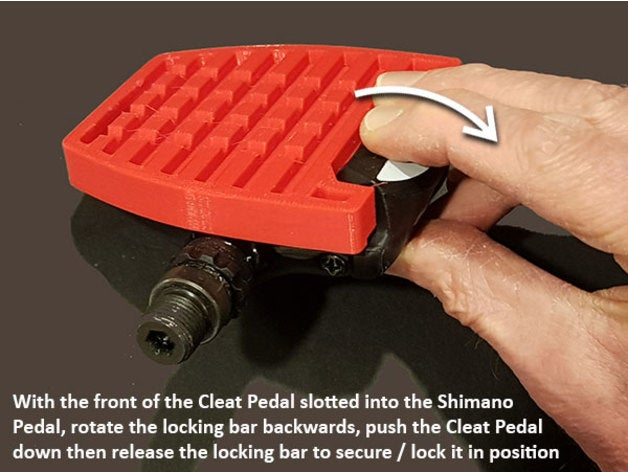 Cleat Pedals - Clip into Shimano Road Bike Pedals by muzz64