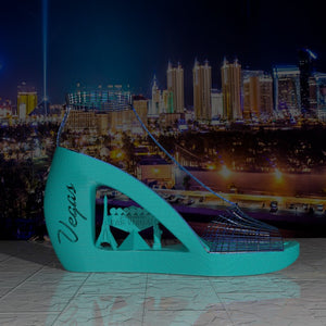 3D Printed Las Vegas Cityscapes Collection Wedge