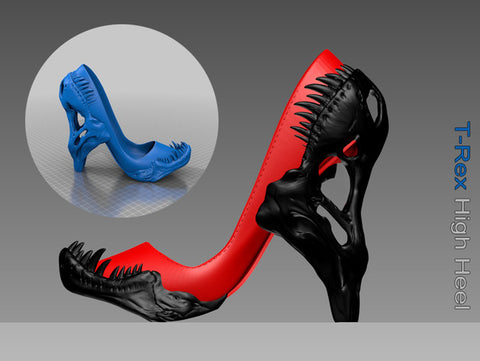 3D Printed T-Rex High Heel