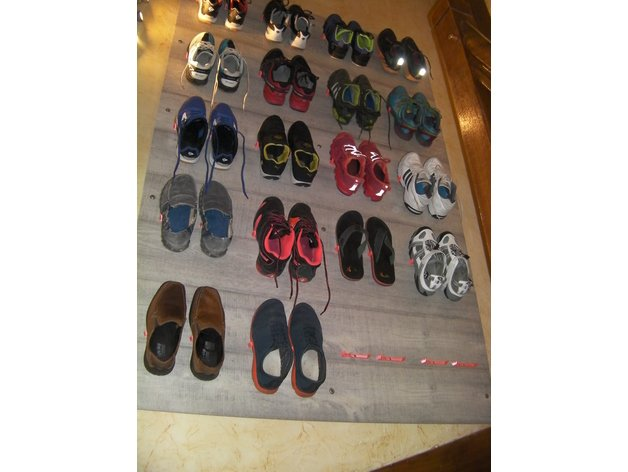 The Wall Of Shoes - Shoes Organizer by Foxeddy
