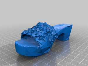 3D-printable sandal with flower-ornaments by makerheb