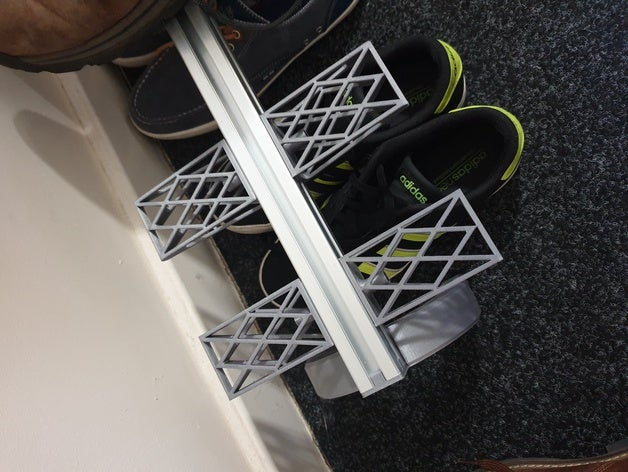 Modular Shoe Rack - 3030 Extrusion by tanmayburde