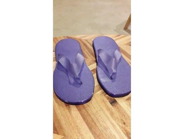 Comfy 3D Printed Flip Flops Unisex Size UK7 by SiPowers
