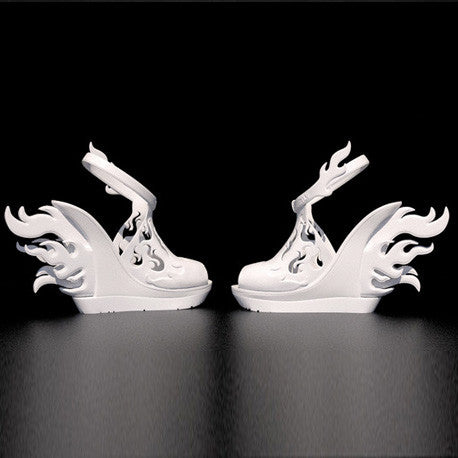 3D digital Flame high Heel Shoes
