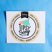 Tipsy Scoop Flavor Stickers