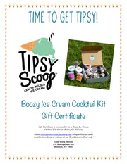 Virtual Ice Cream Cocktail Making Class- Gift Certificate