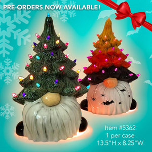 "PRE-ORDER Christmas Tree Gnome 14"" w/lights & light kit ($49 is a deposit only to PRE-ORDER)"