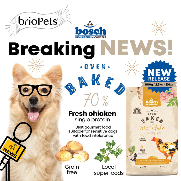 A Brand New Gourmet Dog Food - bosch Oven Baked Chicken