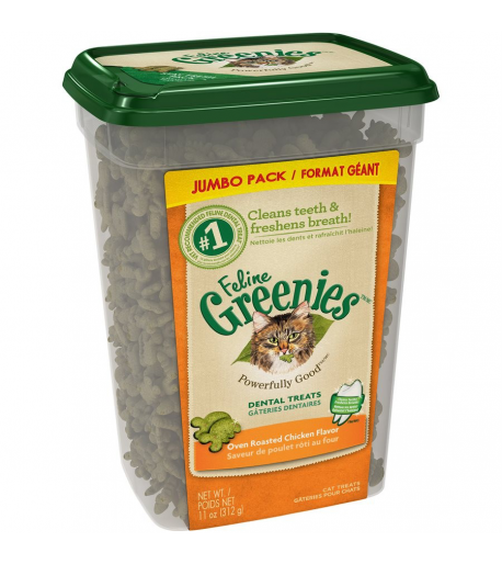 Greenies félin Poulet rôti 11oz pour chat