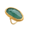 Great Emerald Gold Ring
