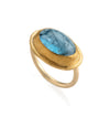 Bright Sky Aquamarine Gold Ring