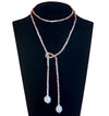 Moonstone Tie Necklace