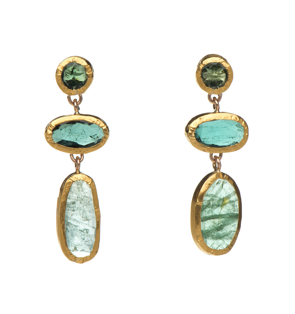 to wear the products earrings tourmaline collections jungalow