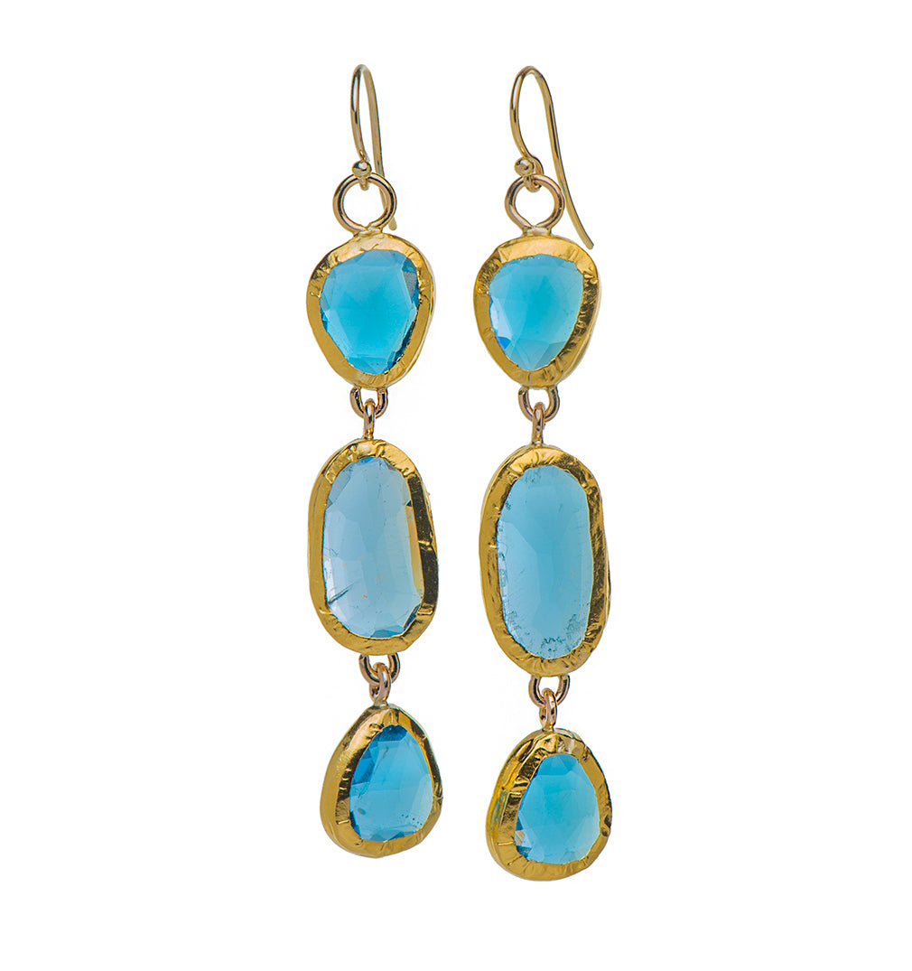sterling short icona blue blq modolo in plated silver products earrings with rhodium di topaz milano