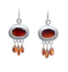 Sunset Hessonite Earrings