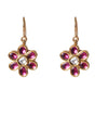 Round Tourmaline and diamond earrings solid 18k - at 50% off!!