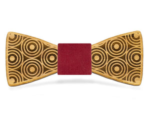 Circle Flair Wooden Bow Tie | Bamboo