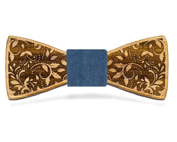 Floral Wooden Bow Tie | Bamboo