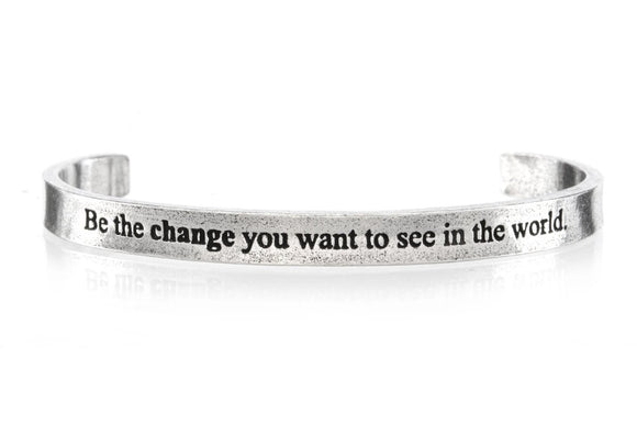 Be The Change You Want To See Cuff Bracelet