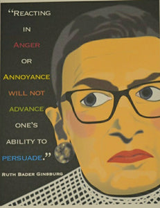 RBG Quote Card Black