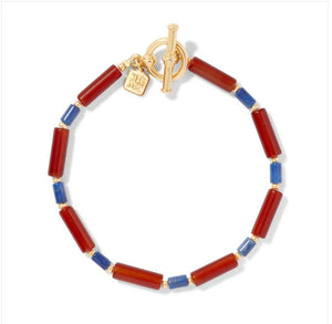 SALE-Egyptian Carnelian and Lapis Bead Bracelet.