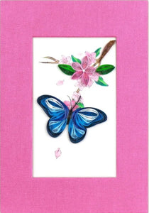 Quilled Blue Butterfly Journal