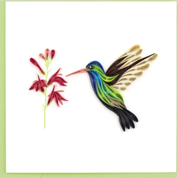 Quilled Broad-billed Hummingbird Greeting Card