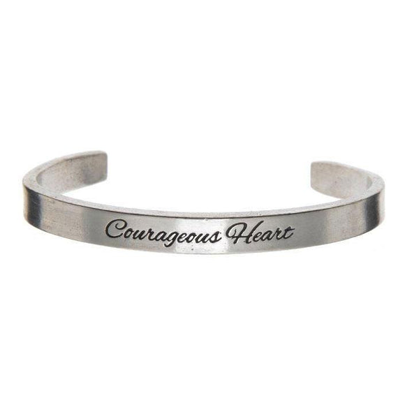 Courageous Heart Cuff Bracelet