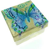 Kubla Craft Hummingbird with Flowers Shell Box