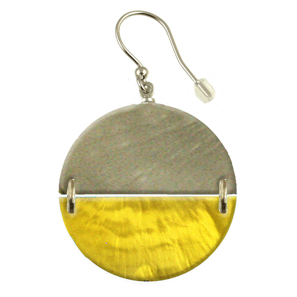 Sunglow Two Tone Circle Earring