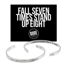 Fall Seven Times, Stand Up Eight Cuff Bracelet