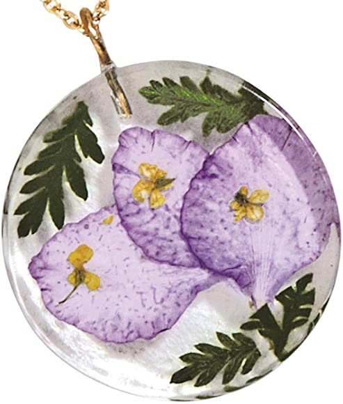 Birth Month Flower Pendant Necklace- July