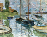 Claude Monet Sailboats on the Seine 1000