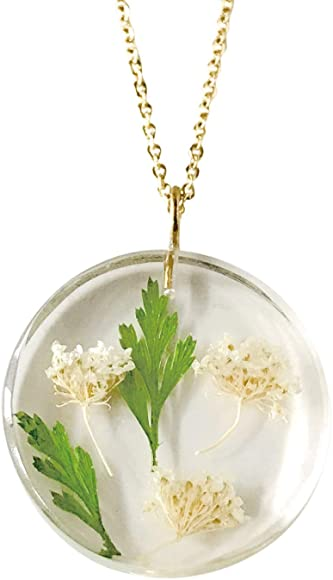 Birth Month Flower Pendant Necklace - May