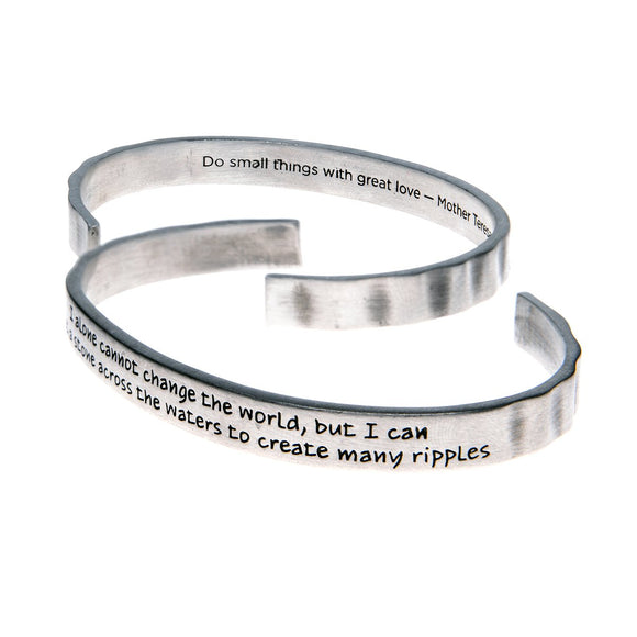 I Alone Cannot Change the World Cuff Bracelet