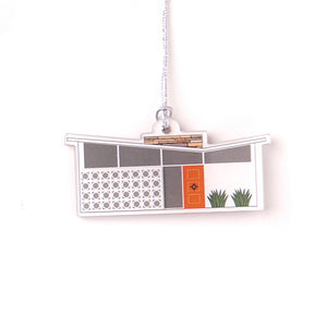 Mid-century Modern House Ornament- Butterfly Roof