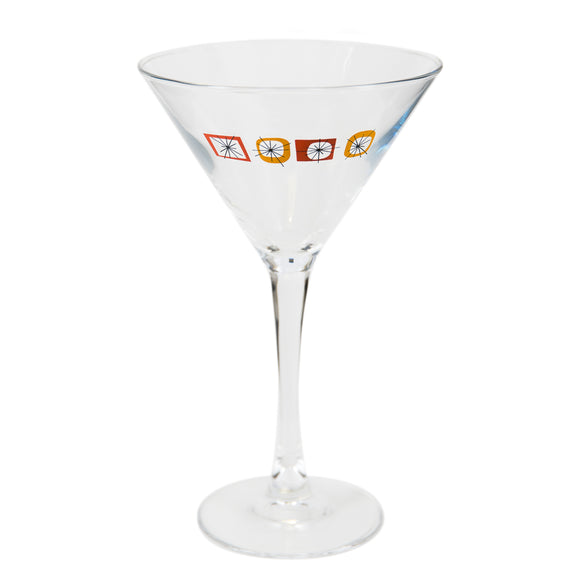 Orange Atomic Martini Glass