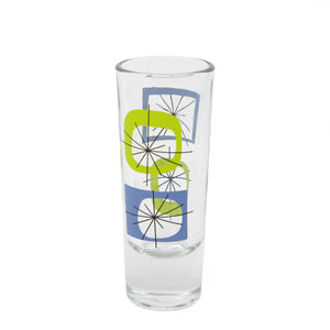 Blue Atomic Shot Glass