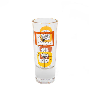 Orange Atomic Shot Glass