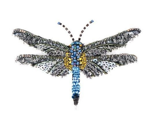 Blue Dasher Dragonfly Embellished Pin