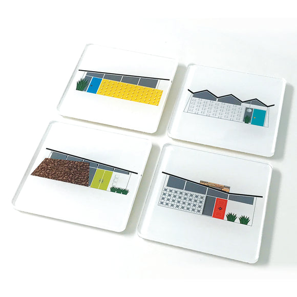House Acrylic Coaster - Set of 4
