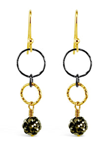 Black & Gold Elegant Earrings