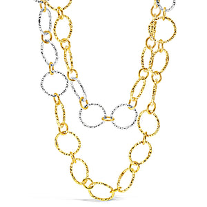 Shimmer Silver & Gold Necklace