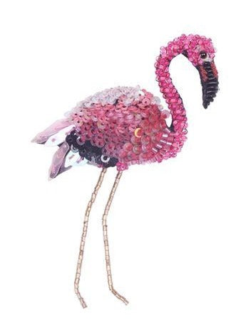 Flamingo Embellished Pin