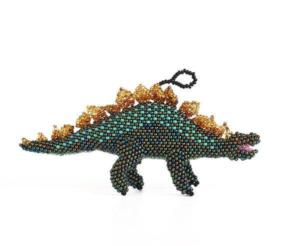 Beaded Stegosaurus Ornament